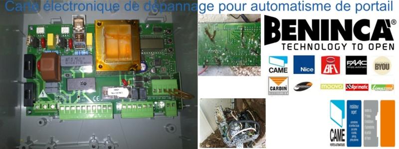 carte lectronique de d pannage pour automatisme de portail battant avec 2 moteurs en 220 volts. Black Bedroom Furniture Sets. Home Design Ideas